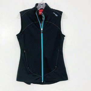 Saucony Black Athletic Vest w/ Zip Pockets